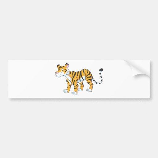 Smiling Tiger Bumper Sticker