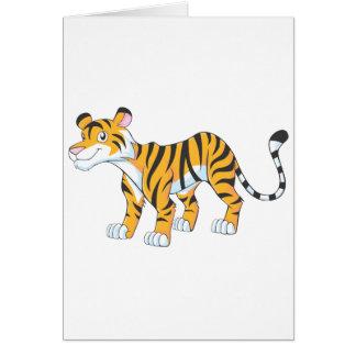 Smiling Tiger Greeting Card