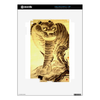 Smiling Tiger iPad 2 Decal