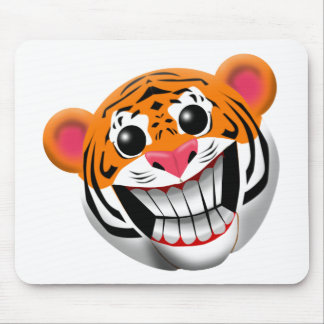 SMILING TIGER MOUSE PAD