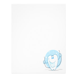 Smiling Tooth Cartoon Character Always Floss Letterhead