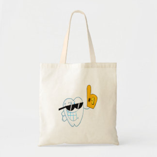 Smiling Tooth Cartoon Character Number One Bags