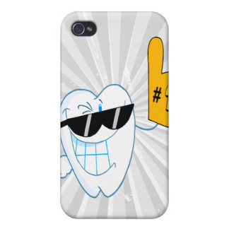 Smiling Tooth Cartoon Character Number One Case For iPhone 4