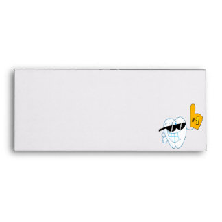 Smiling Tooth Cartoon Character Number One Envelope