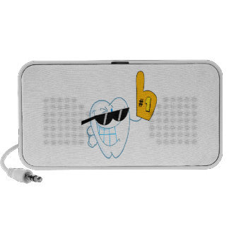Smiling Tooth Cartoon Character Number One Portable Speaker