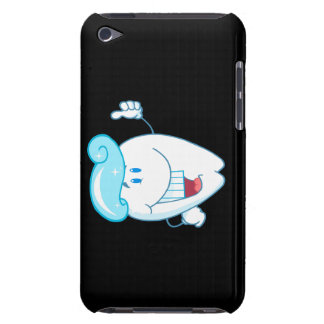 Smiling Tooth Cartoon Character With Toothpaste On iPod Touch Cover