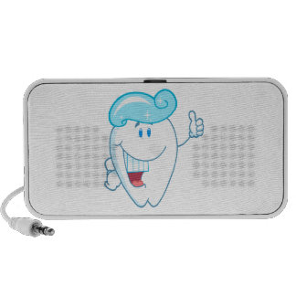Smiling Tooth Cartoon Character With Toothpaste On Mini Speaker