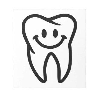Smiling tooth memo pad