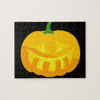 Smiling toothy Jack-O-'Lantern Jigsaw Puzzle