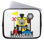Smiling Train Laptop Computer Sleeves