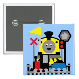 Smiling Train Pinback Button