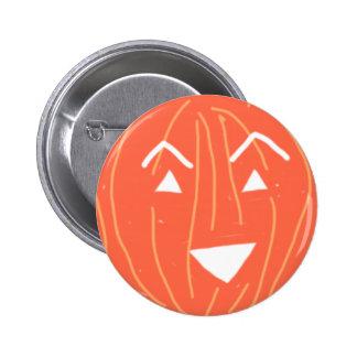 Smiling triangular pumpkin pin