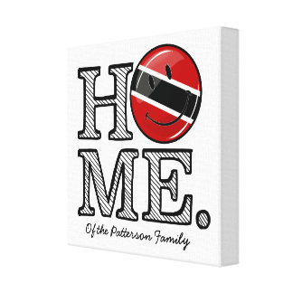 Smiling Trinidadian Flag House Warmer Canvas Print