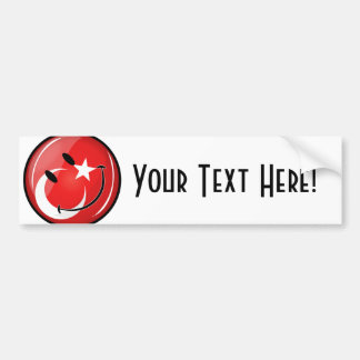 Smiling Turkish Flag Bumper Sticker