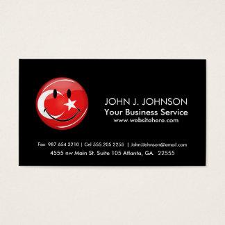 Smiling Turkish Flag Business Card