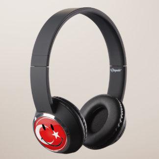 Smiling Turkish Flag Headphones