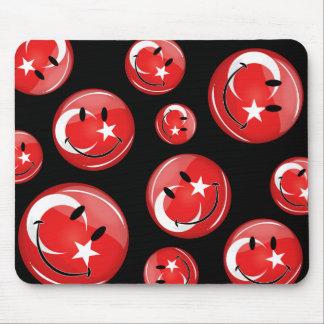 Smiling Turkish Flag Mouse Pad