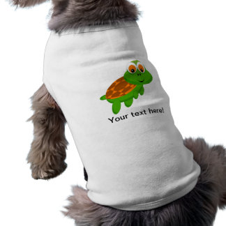 Smiling turtle cartoon pet t shirt
