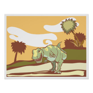 Smiling Tyrannosaurus Rex Poster