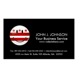 Smiling Washington DC Flag Pack Of Standard Business Cards