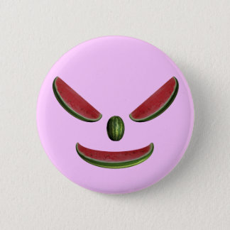 Smiling Watermelon Face Button