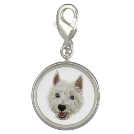 Smiling West Highland Terrier Charm