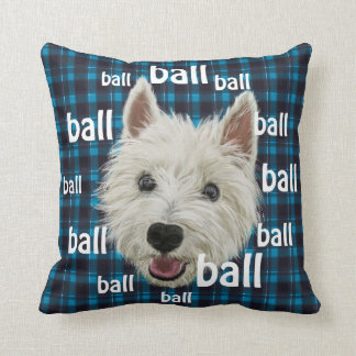 Smiling West Highland Terrier Pillow