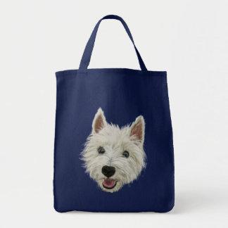 Smiling West Highland Terrier Tote Bag