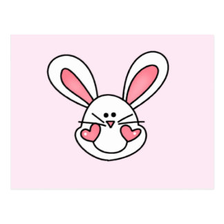 Smiling White Bunny Tshirts and Gifts Postcard