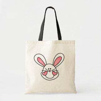 Smiling White Bunny Tshirts and Gifts Tote Bag