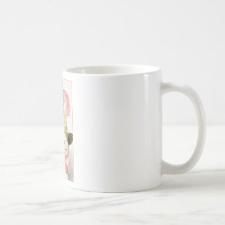 Smiling White Cat With Hat Coffee Mug