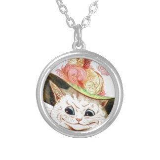 Smiling White Cat With Hat Jewelry
