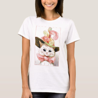 Smiling White Cat With Hat T-Shirt