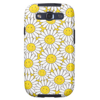 Smiling White Daisies Samsung Galaxy S3 Case