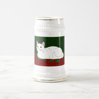 Smiling White Kitty Beer Stein