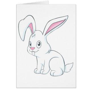 Smiling White Rabbit Cards