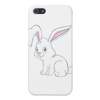 Smiling White Rabbit Cases For iPhone 5