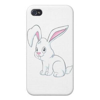Smiling White Rabbit iPhone 4 Cases