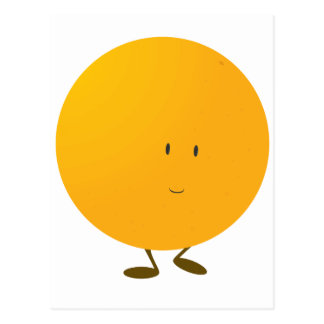 Smiling whole orange character post cards