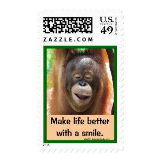 Smiling Wild Animal Postage