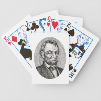 Smiling Winking Abraham Lincoln Deck of Cards