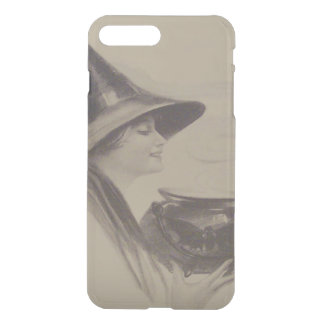 Smiling Witch Cauldron Spell Potion Sepia iPhone 7 Plus Case