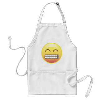 Smiling with your teeth, Happy Emoji Apron