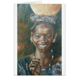 Smiling Woman with Calabash Greeting Card