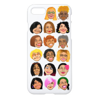 Smiling Women graphic on iPhone 7 glossy case