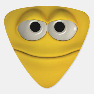 Smiling Yellow Emoticon Guitar Pick
