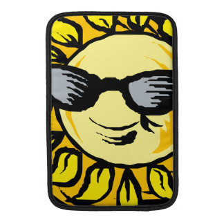 Smiling Yellow Sun With Shades MacBook Sleeve