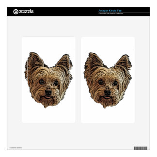 Smiling Yorkie Kindle Fire Decal