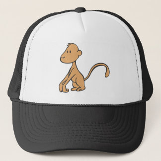Smiling Young Monkey Trucker Hat