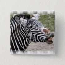 Smiling Zebra Pin